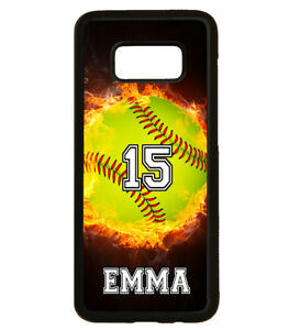 Details about PERSONALIZED NAME NUMBER SOFTBALL PHONE Case For Samsung  Galaxy S9 S8 S7 S6 NOTE