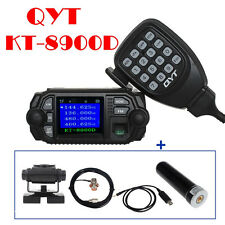QYT 8900D Dual Band Mobile Radio+50W Antenna+Mount+PL259 Cable+USB Program Cable