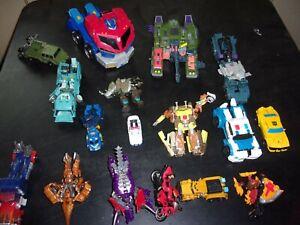 transformer lot of 17 nice lot,megatron,optimus prime+more
