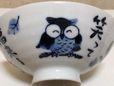Bringing good luck Owl Fukuro  rice bowl kawaii Made in Japan