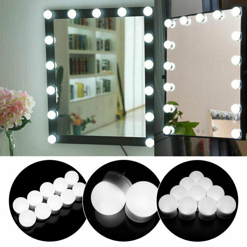 10X LED Make-up MIRROR LIGHT Spiegelleuchte Spiegellampe Schminklicht Weiß DE