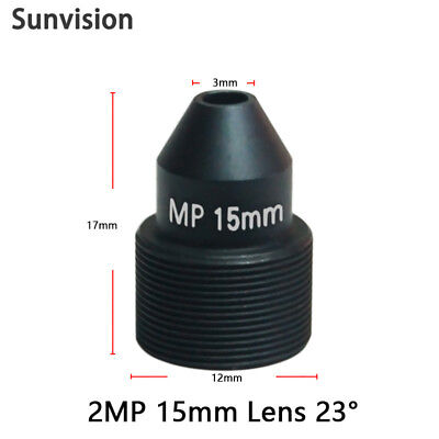HD 15mm CCTV lens M12*0.5 MTV interface MP pinhole for 1080p//IP Security camera