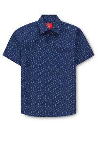 NEW-Fred-Bracks-Print-Shirt-Blue
