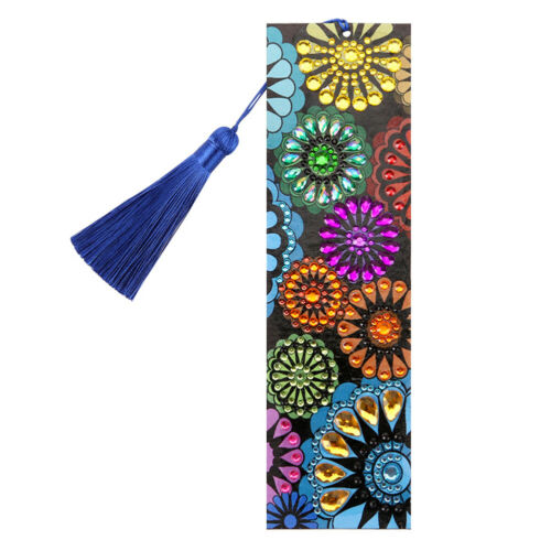 DIY Special Shaped Diamond Painting Leather Bookmark with Tassel Book Marks Gift