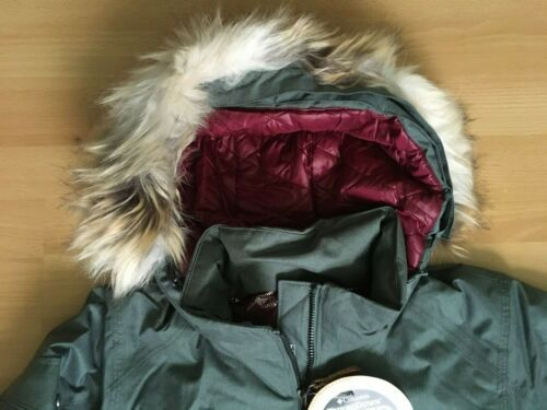 Details about  /NEW Columbia Womens Turbo Down 550TD Hooded Jacket OMNI HEAT GREEN