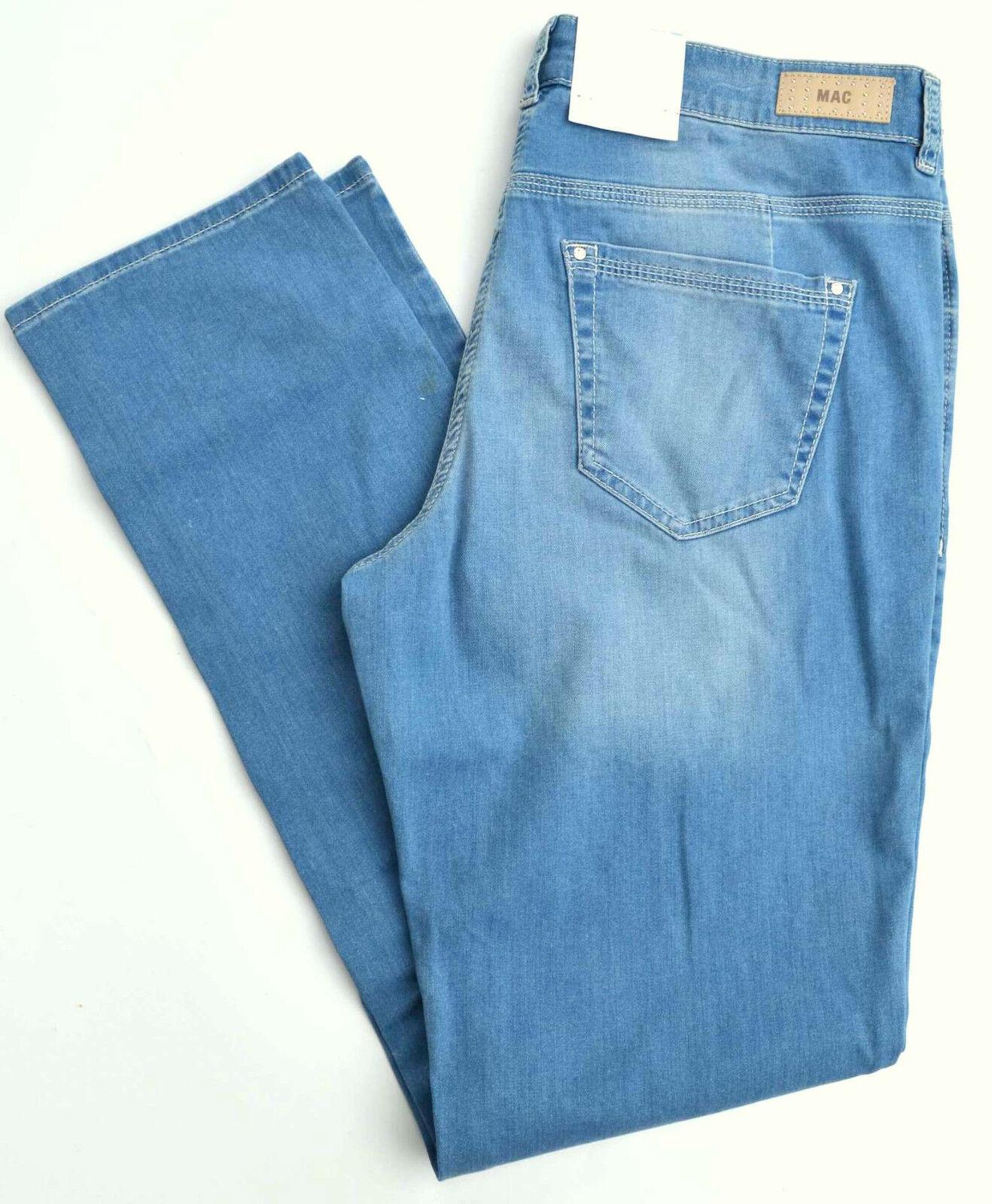 MAC Jeans ANGELA pipe dynamic Blau denim stretch Blau slim fit T 36 L 30 NEUF