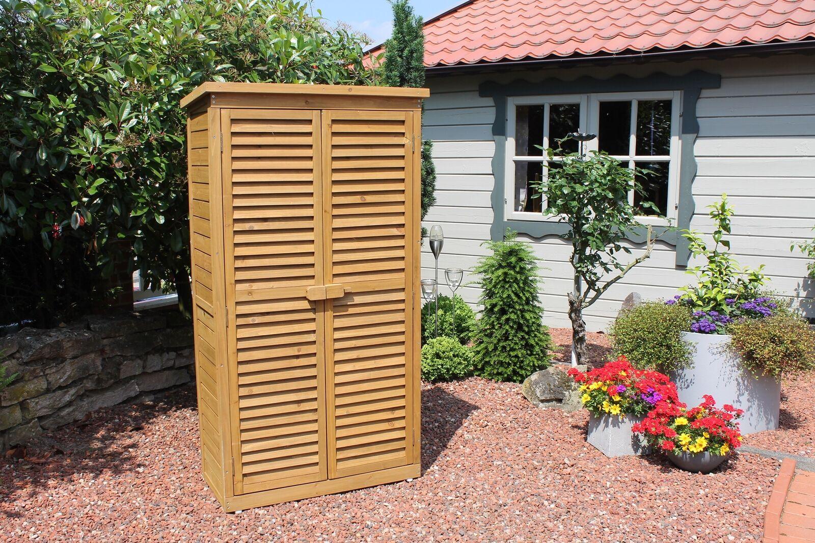 LECO Aufbewahrungsschrank Aufbewahrungsschrank Aufbewahrungsschrank Gartenschrank Schrank Holzschrank Geräteschrank neu b3ebed