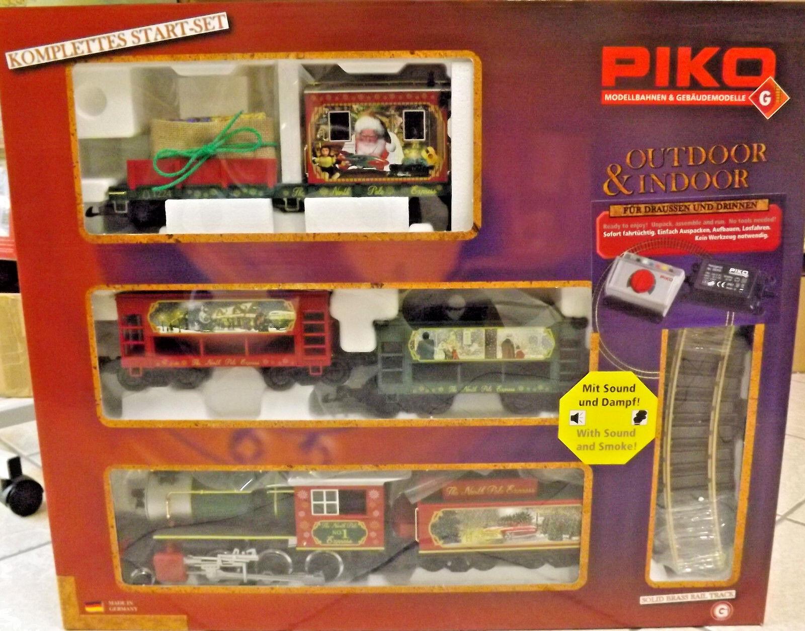 Piko 37122 - Escala G - Set de Inicio Navidades Sonido  Vapor Tren de Jardín