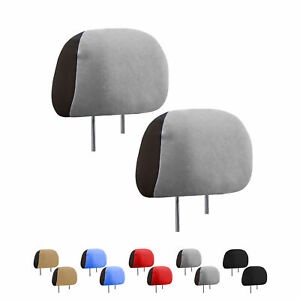 Image Is Loading Auto Car Headrest Covers 1 Pair For Sedan