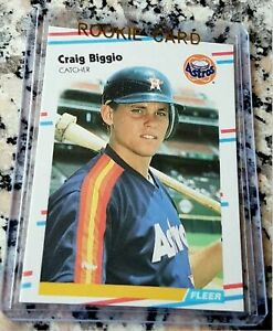 CRAIG BIGGIO 1988 Fleer Update Glossy SP Rookie Card RC $$ Houston Astros HOF $$