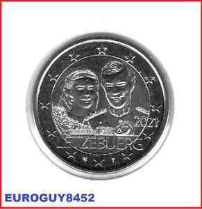 LUXEMBURG - 2 € COM. 2021 UNC - 40e VERJAARDAG HUWELIJK HERTOG HENRI - RELIEF