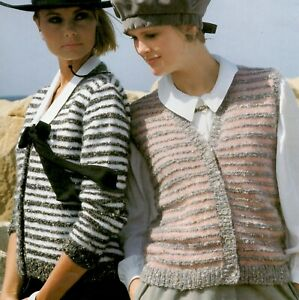 """Knitting Pattern-Ladies Cowl Rib Jumper 4 sizes 32/""""-38/"""" makes up 5/"""" larger A0172"""