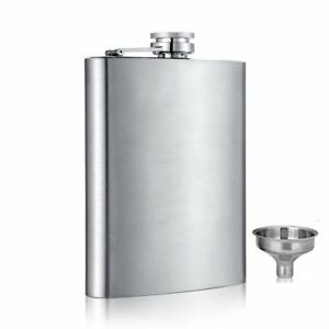 6-8-10-oz-Liquor-Stainless-Steel-Pocket-Hip-Flask-Screw-Cap-with-Funnel
