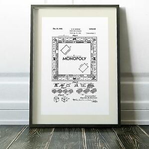 Monopoly patent blueprint digitally restored two sizes prints new image is loading monopoly patent blueprint digitally restored two sizes prints malvernweather Gallery