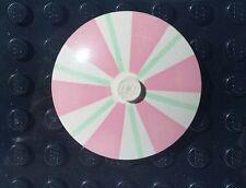 Lego Rare Vintage Paradisa Restaurant Table Umbrella Pink Light Green and White