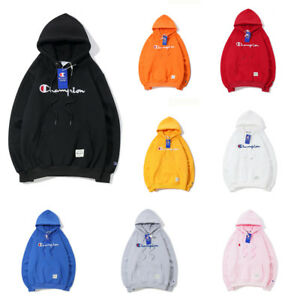 4224024749f64 Image is loading UK-Women-Men-Champion-Hoodies-Sweater-Pullover-Adults-