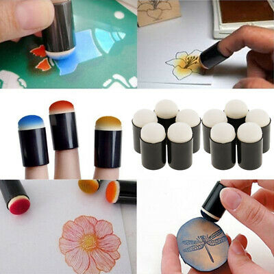 5 Pieces Finger Sponge Daubers Painting Ink Stamping Chalk Kids Art Crafts Tools