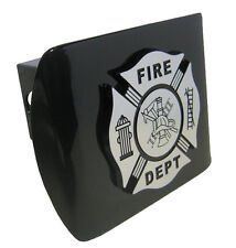 Firefighter Chrome and Black Trailer Hitch Cover Maltese Cross NEW!