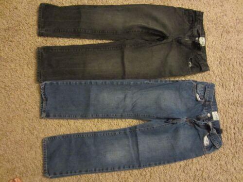 size 10 EUC Boys the childrens place  jeans denim /& black wash colors 2 pairs