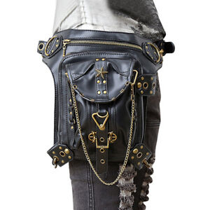 Gothic-Steampunk-Retro-Rock-Women-Shoulder-Punk-Bag-Waist-Pack-Pocket-Wallet
