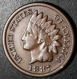 1887-INDIAN-HEAD-CENT-With-LIBERTY-VF-VERY-FINE