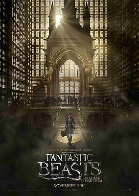 FANTASTIC BEASTS AND WHERE TO FIND THEM MOVIE POSTER A4 A3 QUEENIE GOLDSTEIN