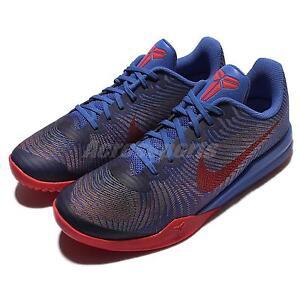 Nike KB Mentality II EP Kobe Bryant Blue Red Mens Basketball Shoes 818953-402