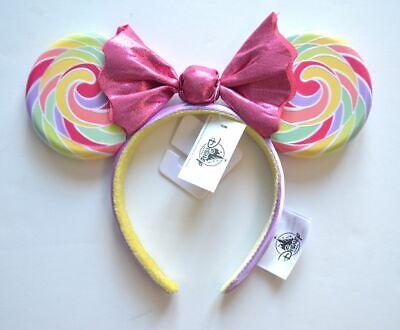 2019 Disney Parks Mickey Minnie Mouse Lollipop Ears Headband