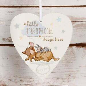 Disney-Little-Prince-Sleeps-Here-Bambi-Boy-Hanging-Heart-Wooden-Plaque