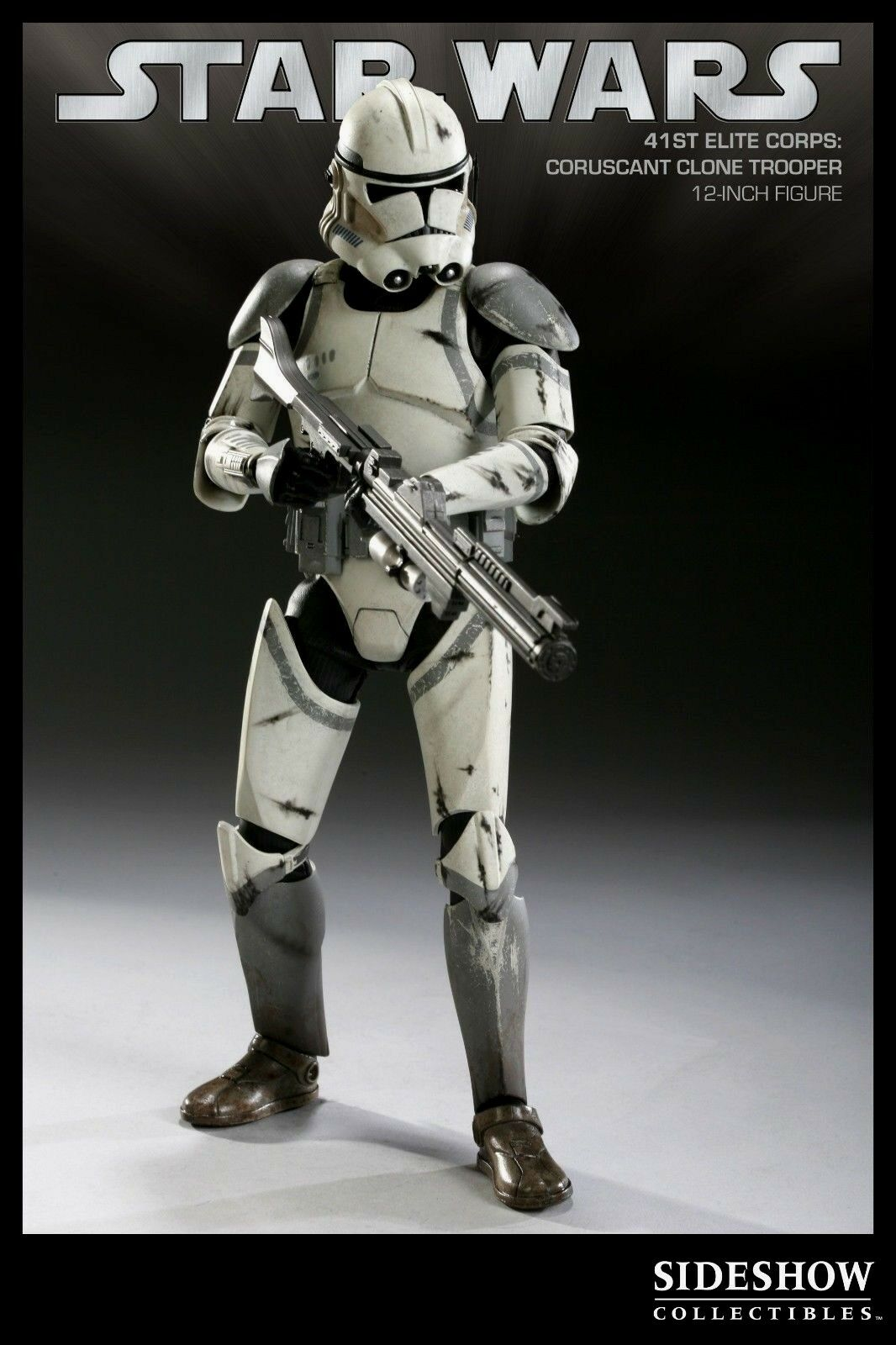 Sideshow 1 6 41st Coruscant Militaries of Star Wars Clone Trooper Figure