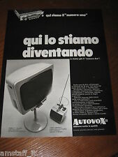 AC11=1968=AUTOVOX STEREO TV TELEVISORE=PUBBLICITA'=ADVERTISING=WERBUNG=