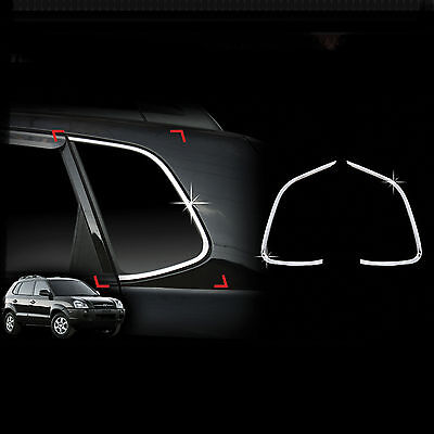 Silver Mirror Chrome Side Door Handle Covers Trims For 05-09 Hyundai Tucson 2005 2006 2007 2008 2009