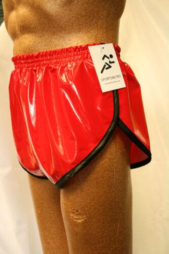 White Retro PVC Sprinter Shorts S to 4XL Black