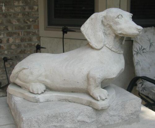 MEMORIAL,OR  PET  GRAVE MARKER LARGE  CONCRETE DACHSHUND STATUE