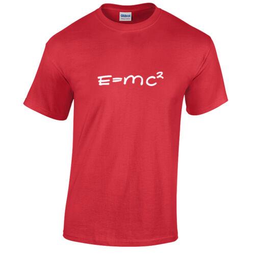 E=Mc2 Physik Wissenschaft Big Bang Theory T-Shirt Herren Geek Nerd Mathe