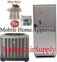 Rheem 3.5 Ton 14/15 Seer A/c Split System Ra1442aj1 Mobile Home Approved on Sale