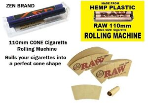NEW-110mm-RAW-rolling-machine-ZEN-KING-SIZE-CONE-roller-RAW-Cone-Tips