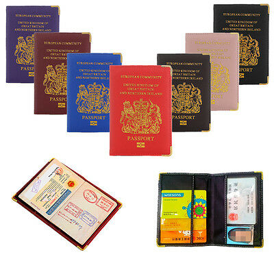 Passport Credit Card Holder Travel Leather Protector Cover Wallet Document Case
