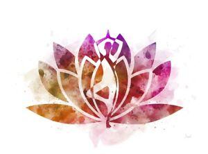 art print lotus flower symbol yoga tree pose fitness