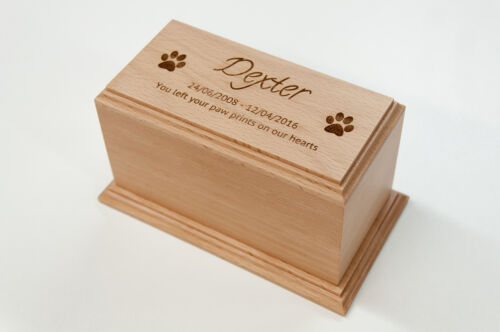 Wooden Pet Cremation Urn Memorial Casket Pet Ashes - CONTOUR EDGE+