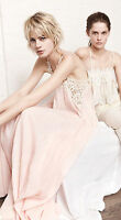 NWT ZARA PINK MAXI LONG LINEN DRESS WITH SIDE DETAILS LOW CUT BACK REF. 2698/805