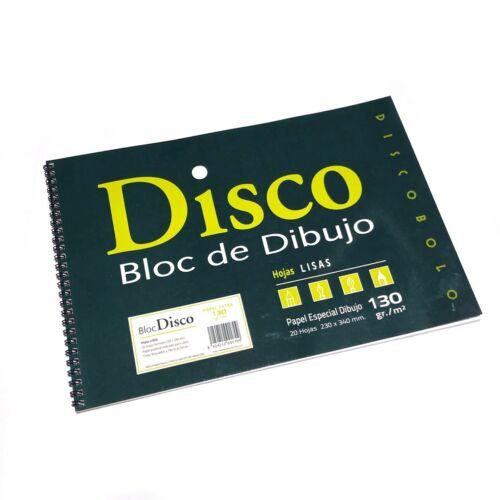 Bloc de Dibujo Escolar Disco con recuadro A4  papel 130 gr