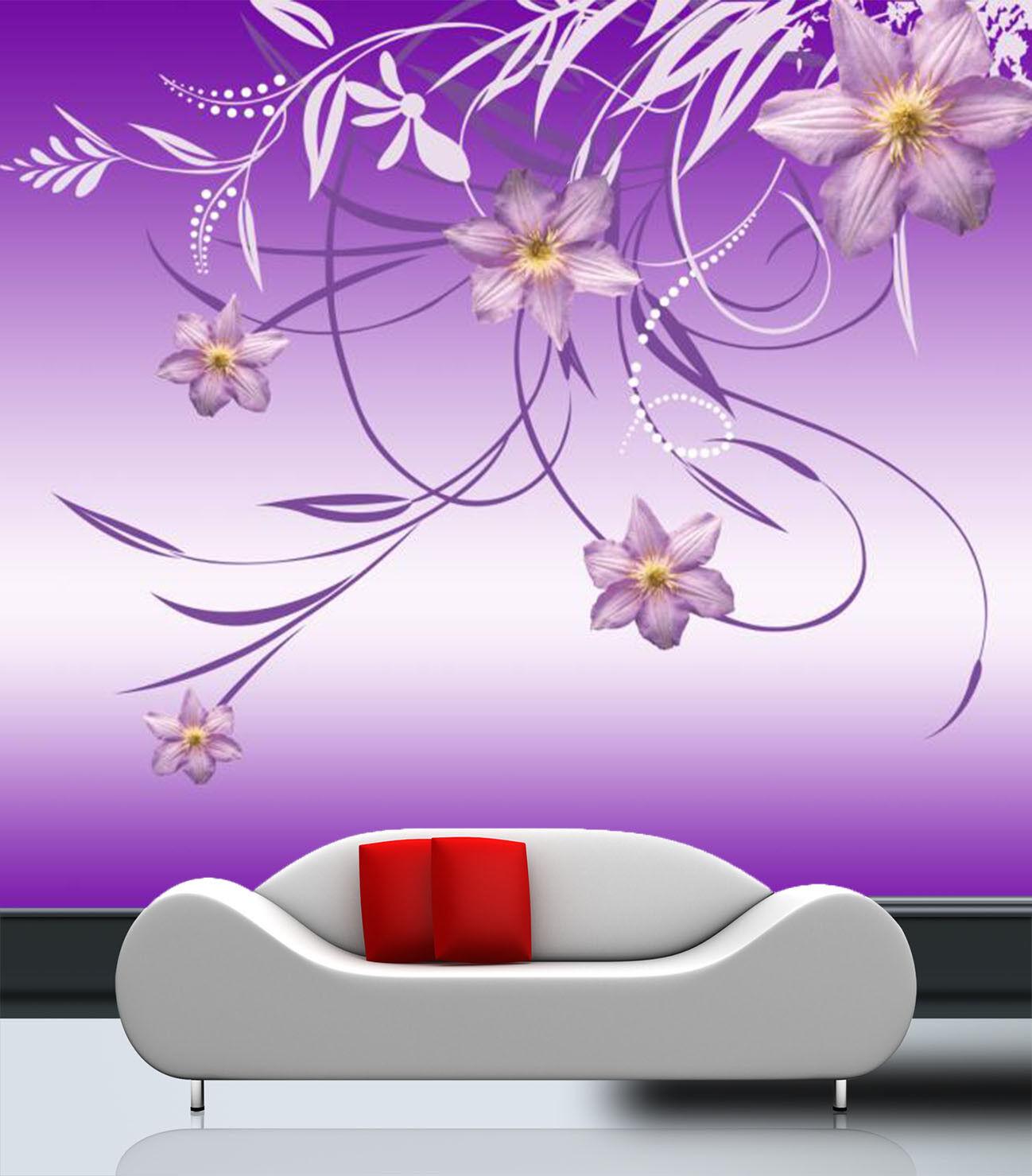 3D 3D 3D lila Art Lace 7 Wall Paper Murals Wall Print Wall Wallpaper Mural AU Summer f1b7a2