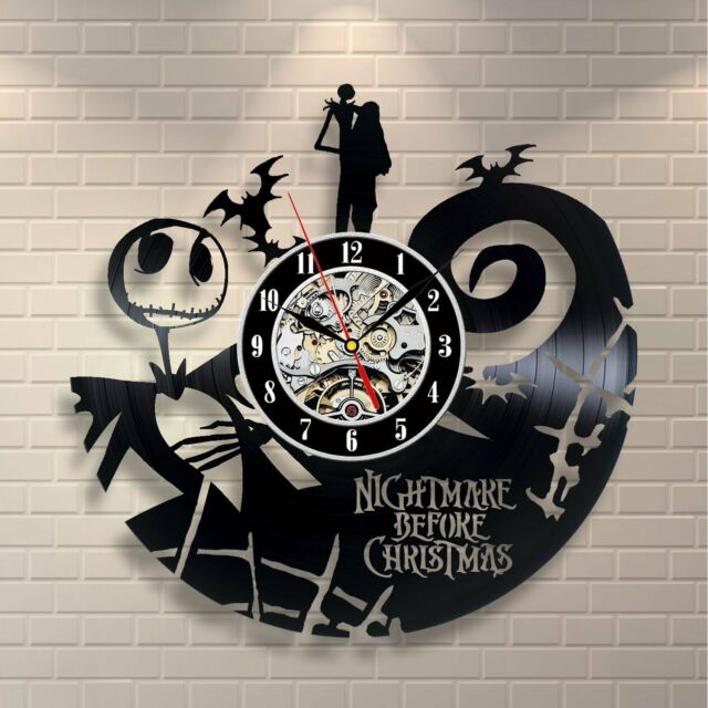 The Nightmare Before Christmas Jack Skellington Gift Wall Clock Story Design 131