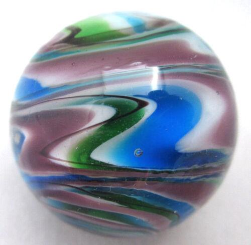 "25mm SONATA Handmade Contemporary art glass stripe design Marbles 1/"" SHOOTER"