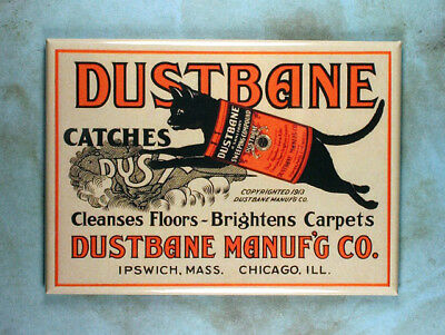 "Vintage Style Advertising Fridge Magnet 2 1/2"" x 3 1/2"" Dustbane Cleaner Cat"