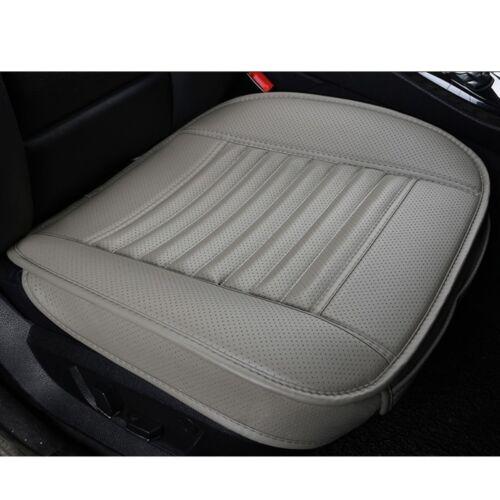 Gris 3D universal carbón de bambú cojín de cuero PU almohadilla del asiento cubiertas de asiento de coche