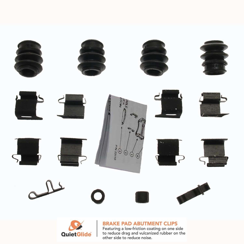 Carlson Quality Brake Parts 13407Q Disc Brake Hardware Kit