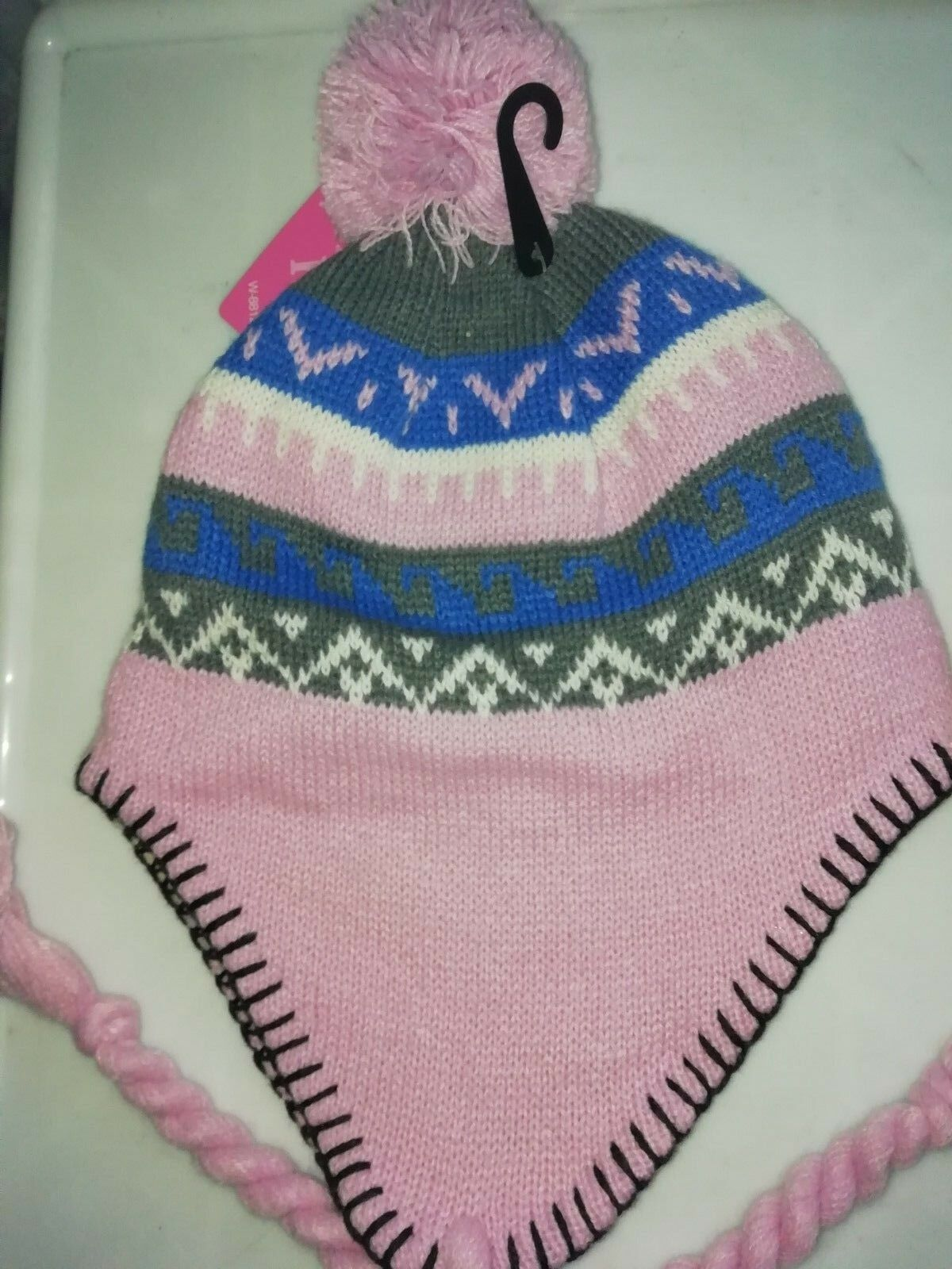ladies Woolly peruvian Beanie Hat NEPALESE PERUVIAN WOOLLEN FLEECE LINED HAT