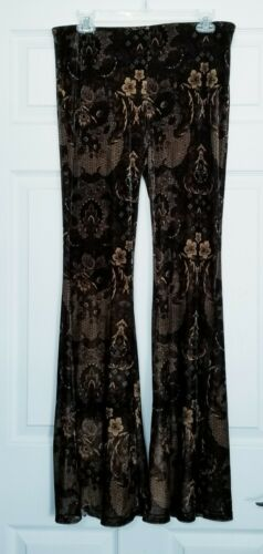 Free People velvet maura bell bottom pants brown p